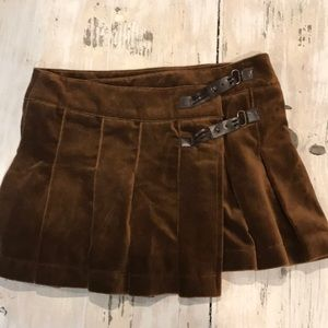 Zara chocolate velvet skirt